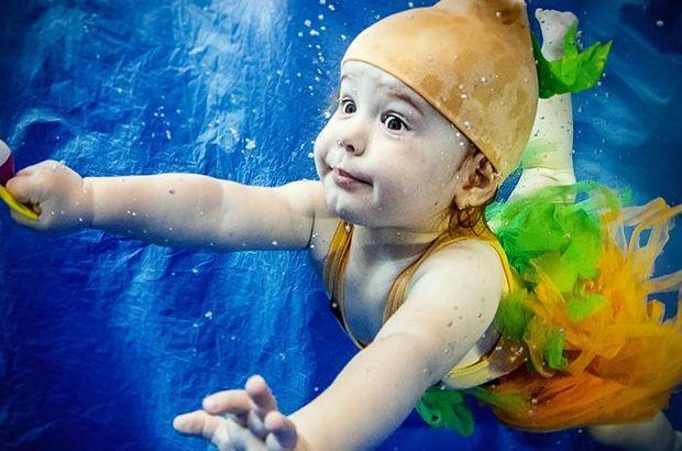 Bebeklerde yüzme eğitimi