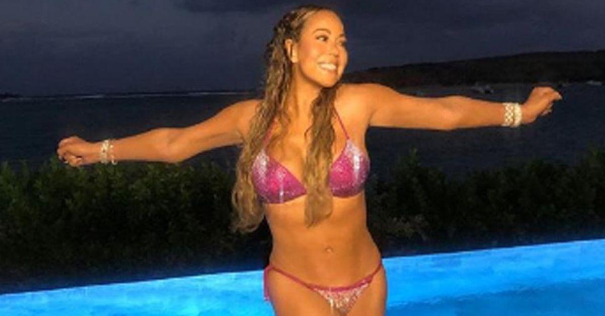 Mariah Carey bikinili pozlarıyla büyüledi