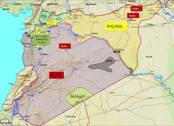 Suriye'deki durum haritası