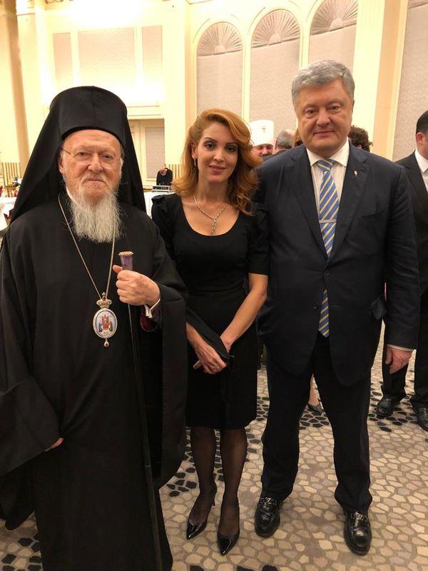 Ukrayna Devlet Başkanı Poroşenko ve Patrik Bartholomeos.