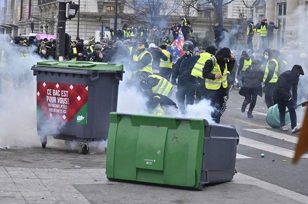 Fransa sarı yelekliler gösteriler gözaltı