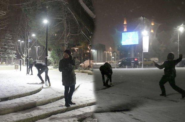istanbul'da kar