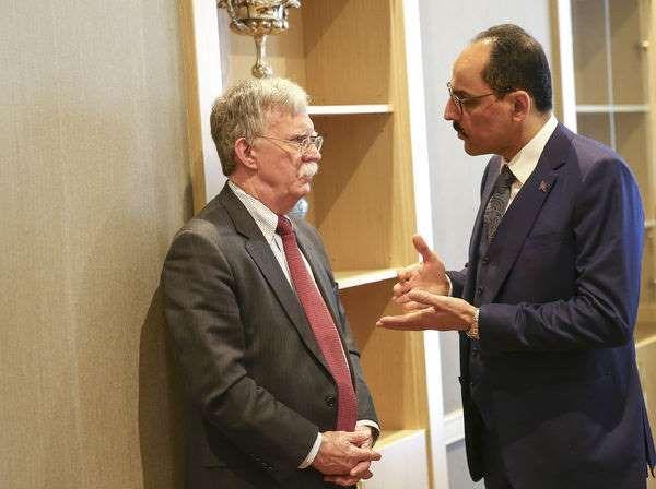John Bolton, Cumhurbaşkanlığı Sözcüsü İbrahim Kalın'la görüştü.