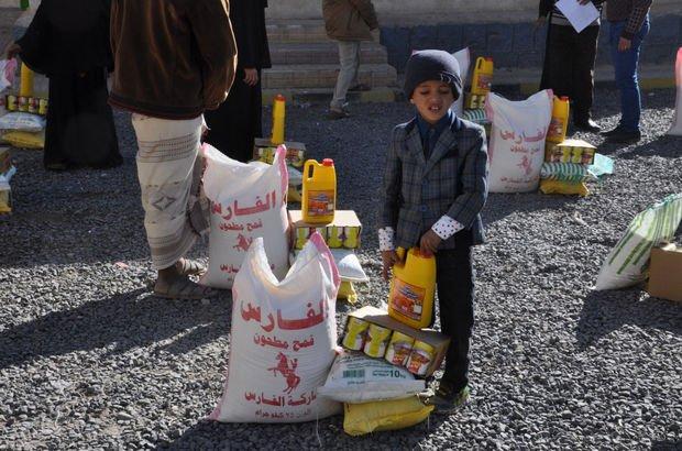 Yemenli özel çocuklara gıda paketi