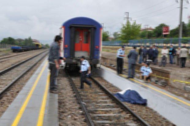 Trenle peronun arasına sıkışan kişi feci şekilde can verdi