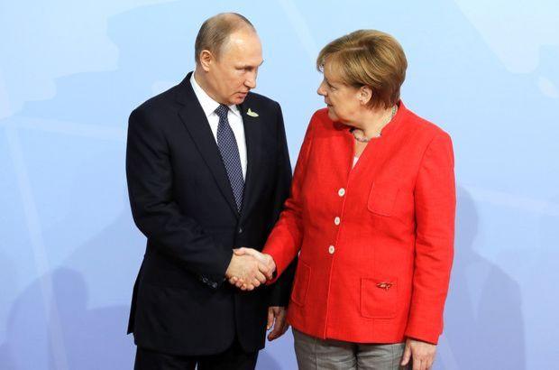 Vladimir Putin Angela Merkel Suriye