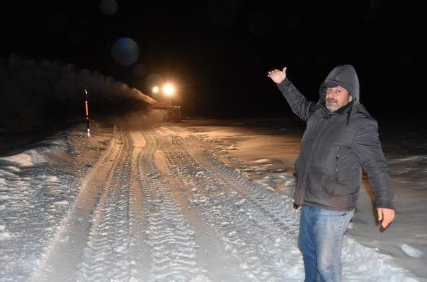 Kars'ta bir kişi donmak üzereyken kurtarıldı