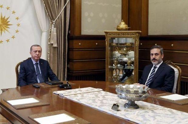 Cumhurbaşkanı Erdoğan, Hakan Fidan ile görüştü