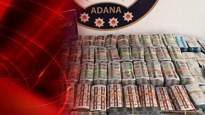 Adana'da otomobilde 10 kilo esrar bulundu