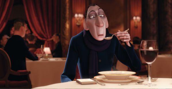 Ratotouille filminde çocukluğunu arayan eleştirmen Anton Ego...