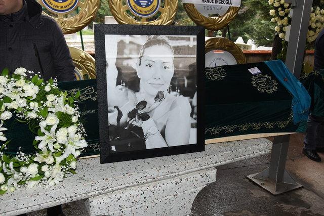 Anneye acı veda! Hande Erçel'in annesi Aylin Erçel son yolculuğuna uğurlandı