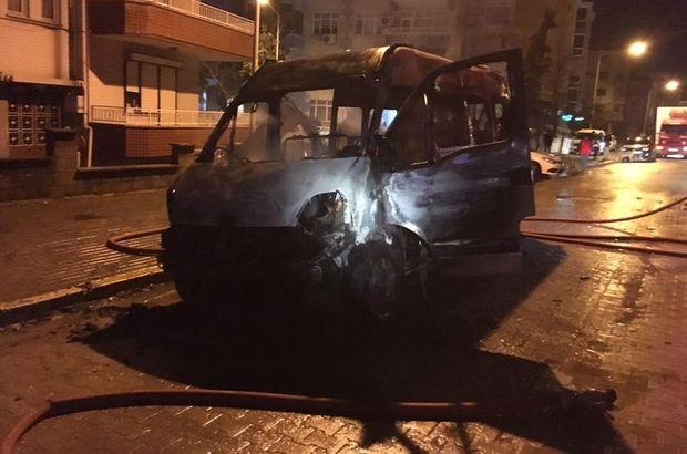 Kırklareli minibüs yangın