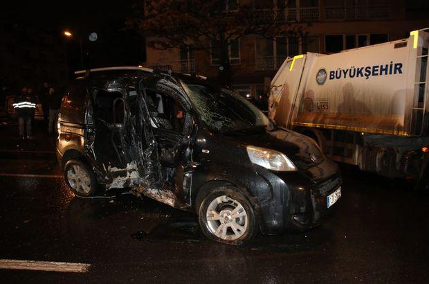 Ankara trafik kazası aydınlatma direği