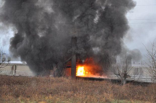 Simav Kütahya sunta fabrikası yangın