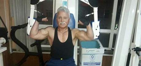 Rizeli Mustafa Aydın, 50 yıldır vücut geliştirme sporu yapıyor