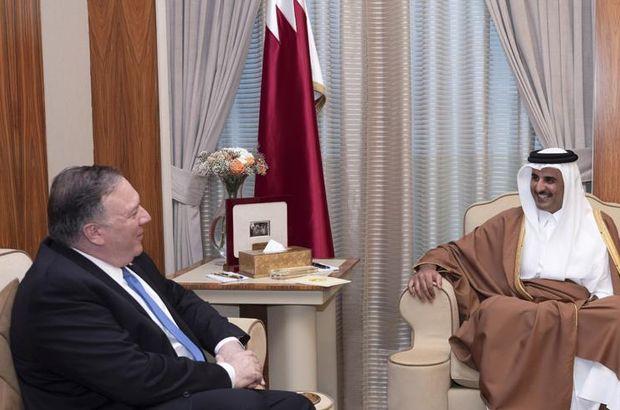 Katar Emiri ile Pompeo görüştü