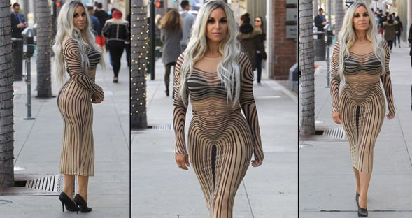 Iglesias'ın zebra desenli elbisesi...