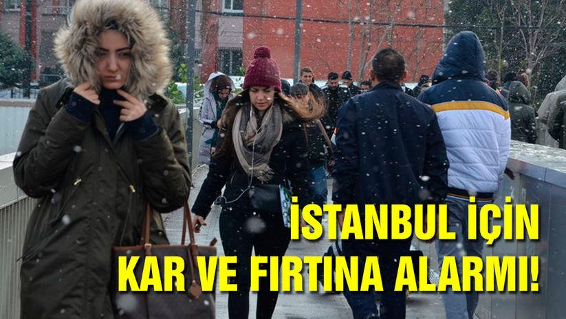 İstanbul için kar ve fırtına alarmı!