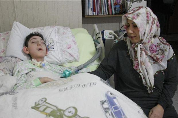 Serebral palsi hastası Arda solunum cihazına kavuştu