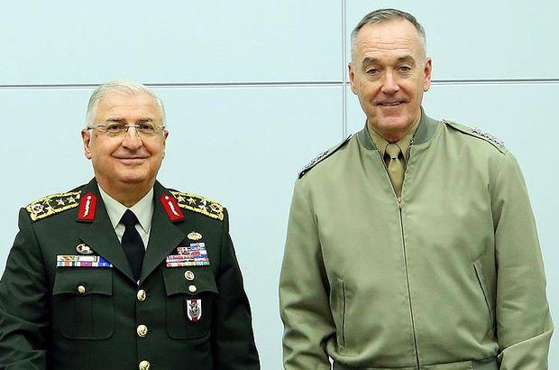 Genelkurmay Başkanı Güler'in ABD'li mevkidaşı Dunford görüşmesi başladı