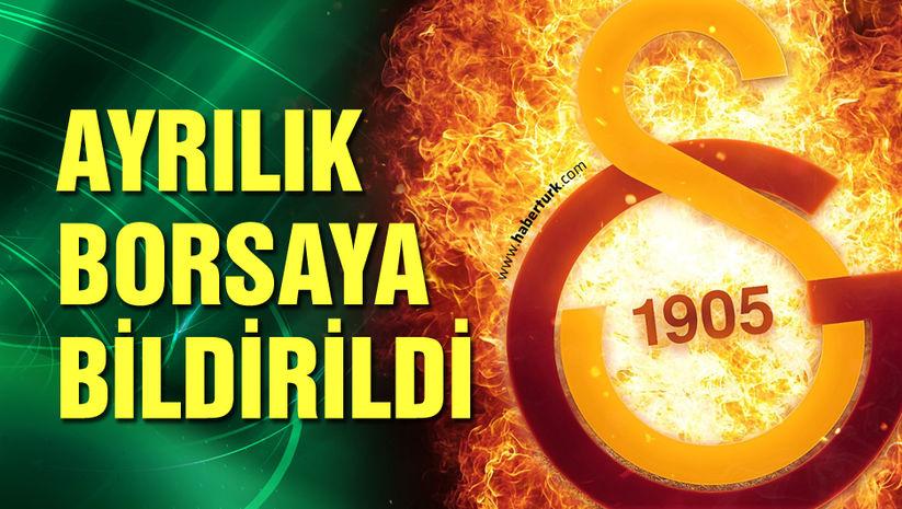 Galatasaray'da ayrılık resmen açıklandı!