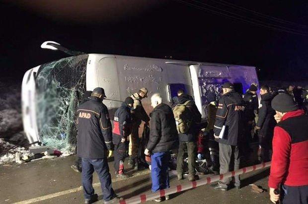 Amasya'da otobüs kazası! Ölü ve yaralılar var