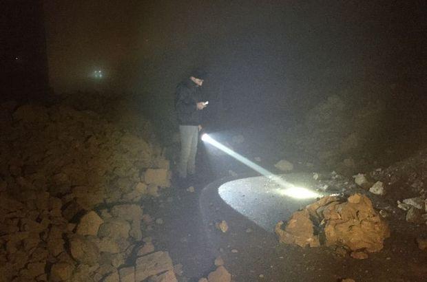 Toprak kaydı, 30 metrelik istinat duvarı çöktü!