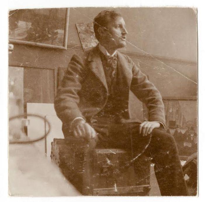 Edvard Munch atölyesinde