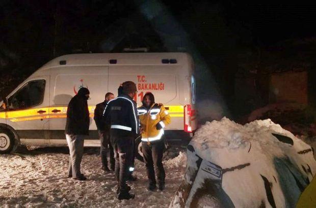 Yoğun kar yağışı nedeniyle hastaya 9 saatte ulaşılabildi