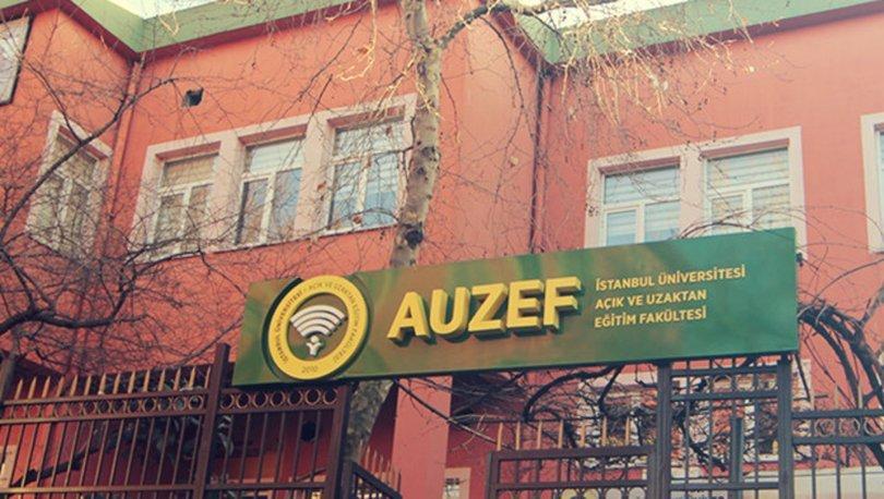 AUZEF sınav giriş belgesi
