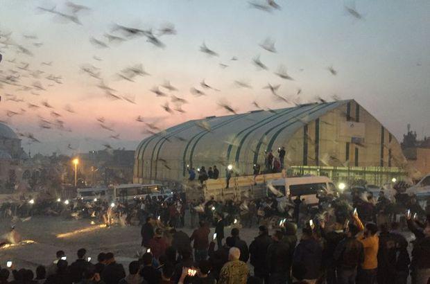 4 bin güvercin aynı anda gökyüzüne salındı
