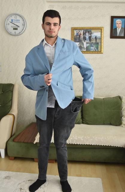 Yusuf Diyar Öngün, arkadaşları 'şişko' diye dalga geçince, 6,5 ayda 53 kilo verdi