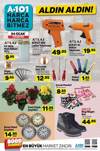 A101 24 Ocak Perşembe! İşte A101 aktüel ürünler kataloğundaki indirimli ürünler