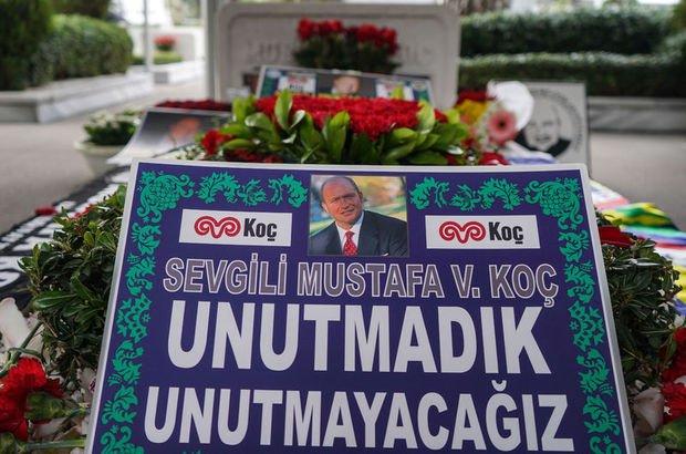 Mustafa Koç kabri başında anıldı