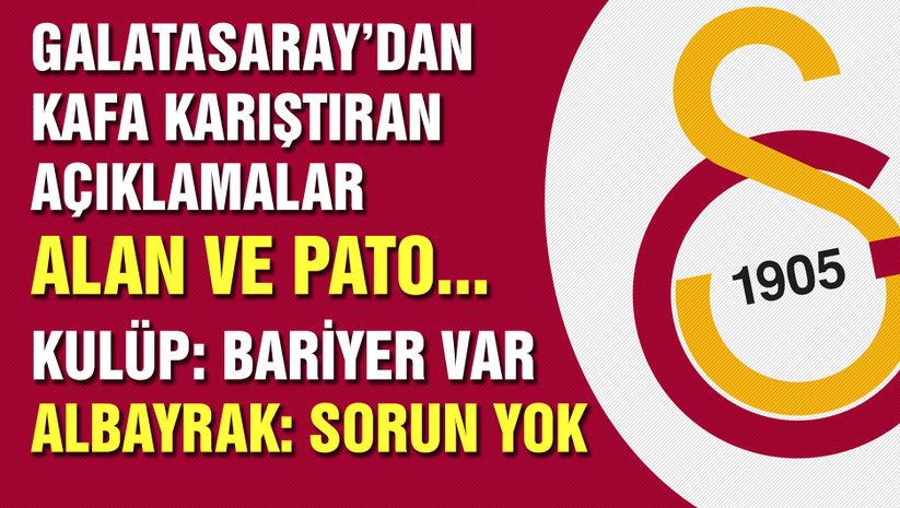 Galatasaray'dan transfer açıklaması! Alan ve Pato...