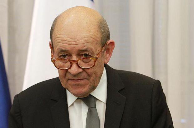 Fransa Dışişleri Bakanı Le Drian: Türkiye'nin sınırlarının güvenliğini sağlamak istemesi normal