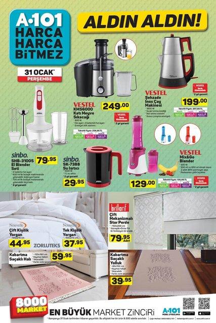 A101 31 Ocak Perşembe aktüel ürünler kataloğu! İNDİRİMLİ Teknoloji ürünleri listede
