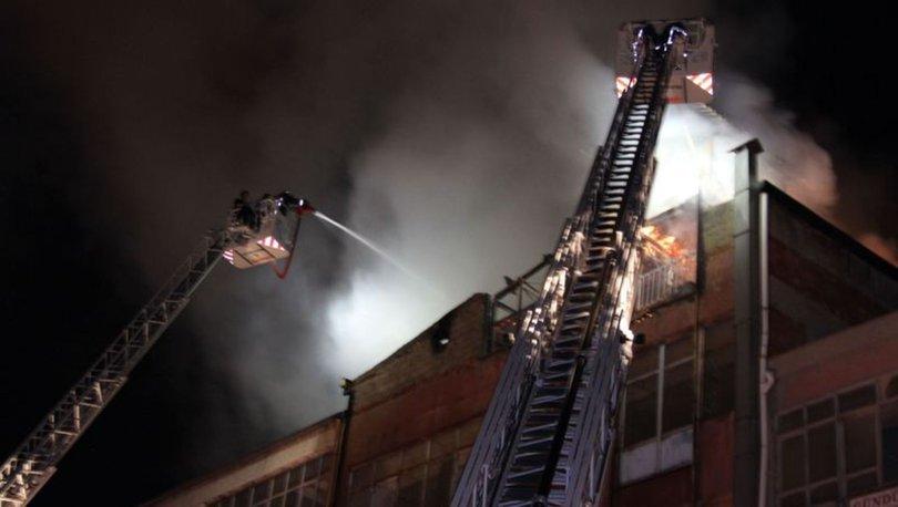 Ankara mobilya atölyesi yangın