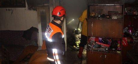 İzmir'de ısınmak için kullanılan sobanın tüpü bomba gibi patladı!