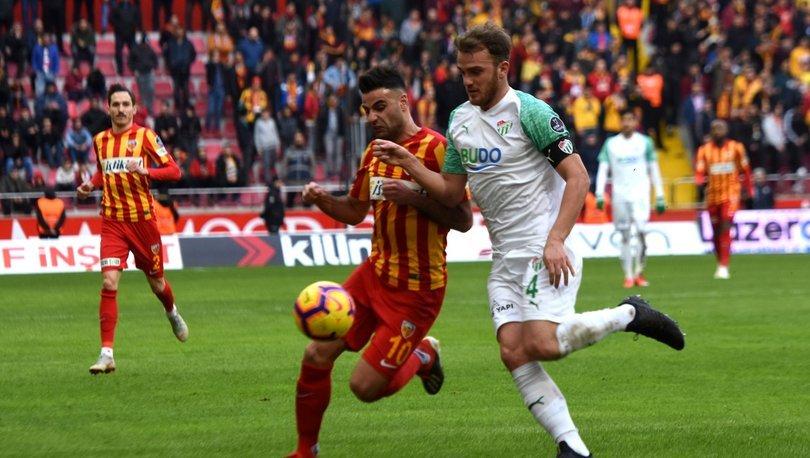 Kayserispor: 1 - Bursaspor: 1