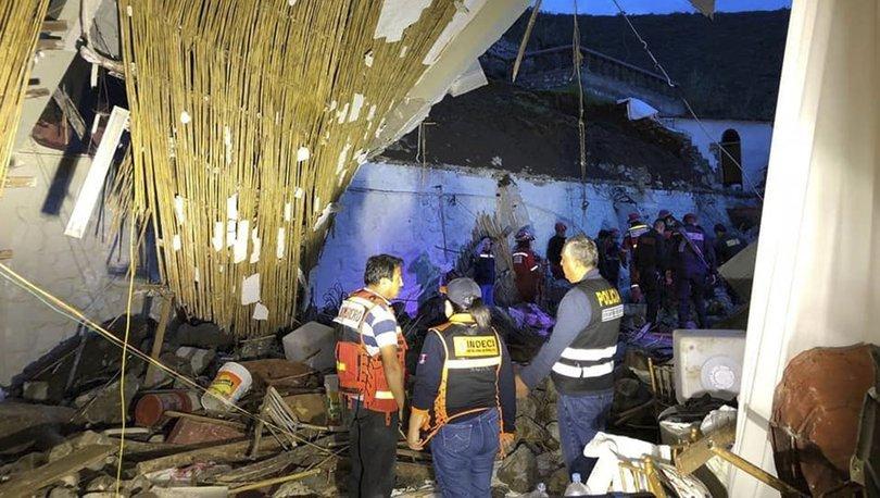 Peru'da düğünde otelin duvar ve çatısı çöktü: 13 ölü