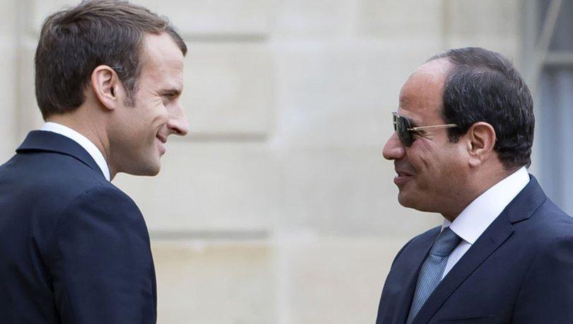 Abdulfettah es-Sisi Emmanuel Macron Mısır
