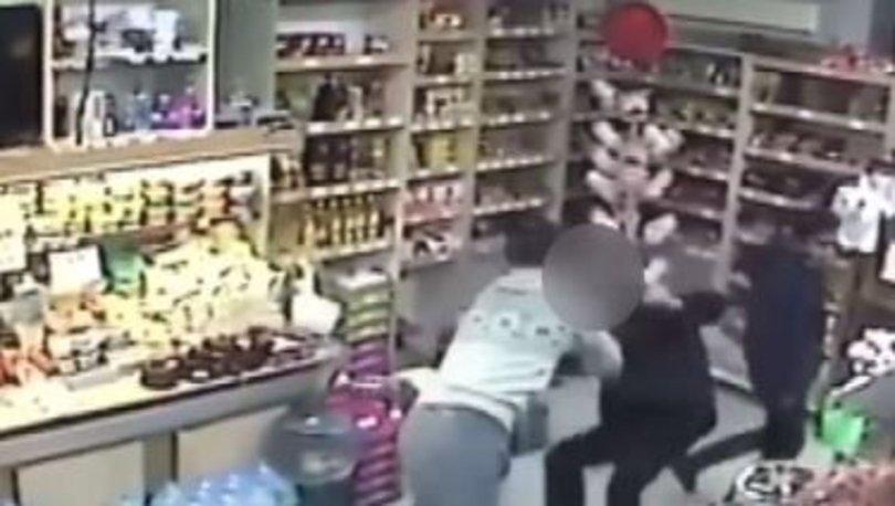 Marketteki kadına taciz şüphelisi, kiks boksçu tarafından etkisiz hale getirildi
