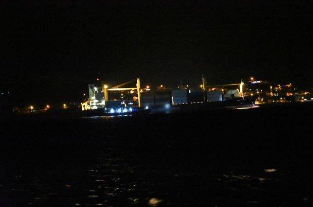 Çanakkale Boğazı İstanbul gemi arızası