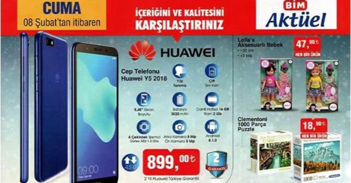 BİM'de İNDİRİMLİ Huawei Y5 Cep Telefonu satışta! 8 Şubat ...