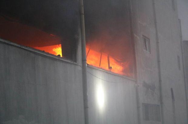 Gaziantep'teki iplik fabrikasında yangın çıktı