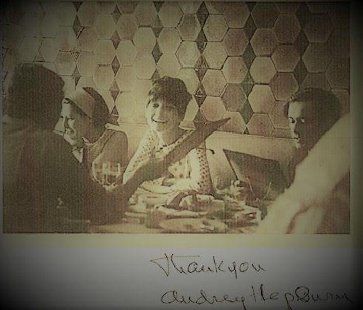 Audrey Hepburn Pandeli'de..