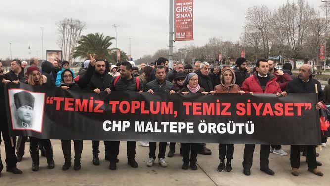 CHP'lilerin Ankara'ya başlattığı yürüyüş.