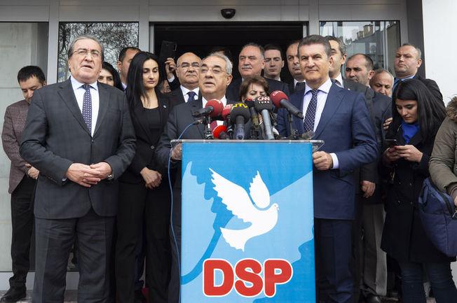 DSP Genel Başkanı Önder Aksakal, Sarıgül'ün Şişli Belediye Başkan adaylığını açıkladı.