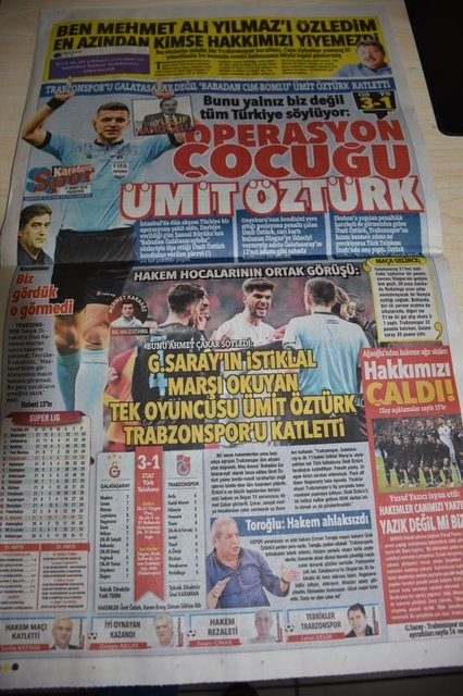 Trabzon yerel basınından Öztürk tepkisi!
